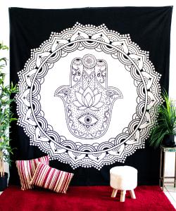 Hamsa Pattern Tapestry