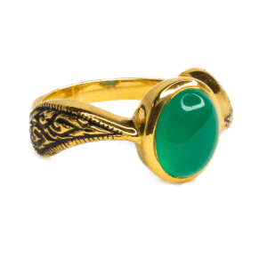 Jade Gold Plated Ring
