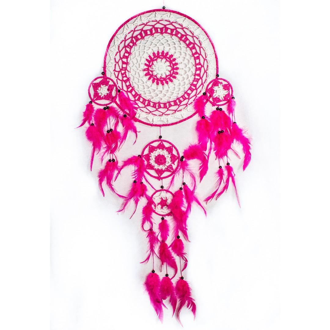 Large Macrame Pink Dreamcatcher