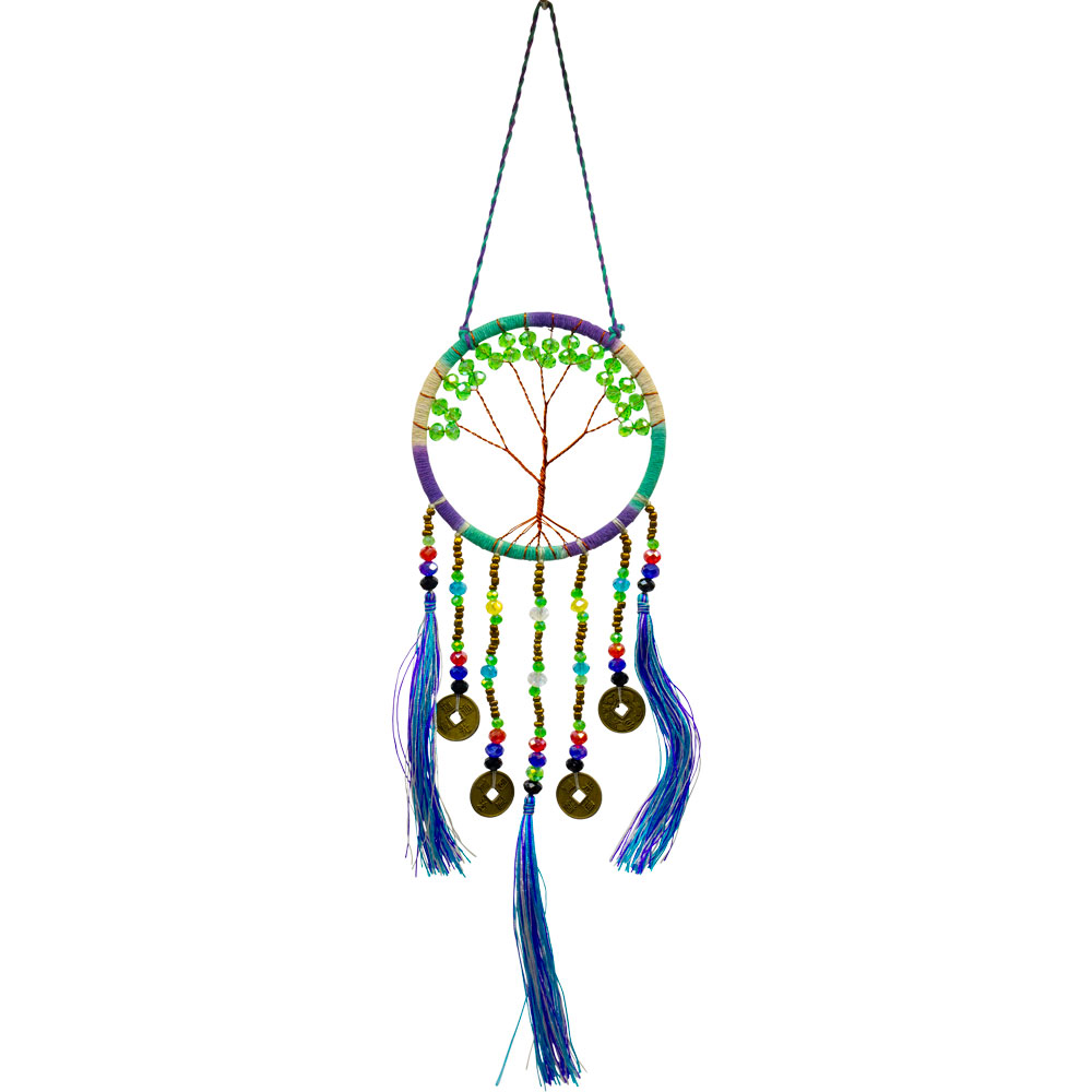 Copper Wired Tree of Life Blue Fortune Dreamcatcher