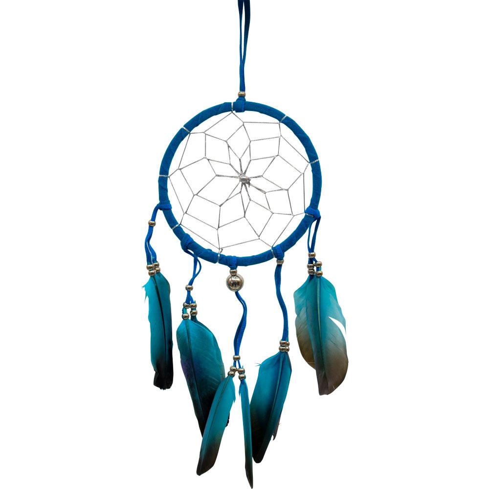 Blue Feathered Dreamcatcher