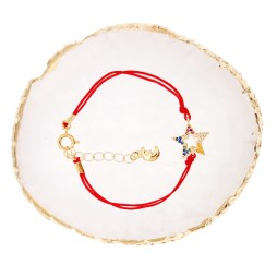 Multi-Color CZ Stone Star Design Red String
