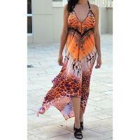 Women Beach Evening Summer Halter Maxi Dresses Free Size - 2009