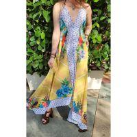 Women Beach Evening Summer Halter Maxi Dresses Free Size - G-6026