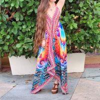 Women Beach Evening Summer Halter Maxi Dresses Free Size - SD-1516