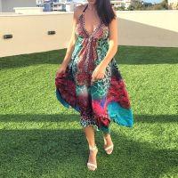 Women Beach Evening Summer Halter Maxi Dresses Free Size - SD-2022