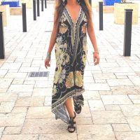 Women Beach Evening Summer Halter Maxi Dresses Free Size - SD-2512