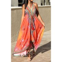 Women Elegant Halter Long Maxi Dresses/Cover Up Free Size - VRSTYL Dress 678