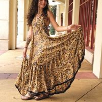 Women Beach Summer Halter Long Dresses Free Size - LONG HONEY 10203