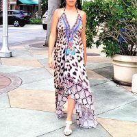 Women Beach Evening Summer Halter Maxi Dresses Free Size - SD-2522