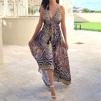 Women Elegant Halter Long Maxi Dresses Free Size - VRSTYL Dress 680