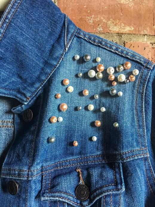 DIY Pearl Embellished Denim