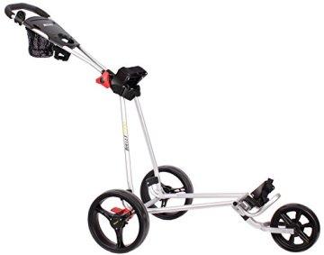 Bullet Golfwagen 5000 Professional, klappbar mit mit leicht-klick-System Silber für Golftaschen/Golfbags - 1