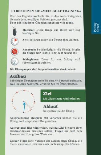 Mein Golf Training: 30 Übungen für ein effektives Training | Booklet mit Drills für das Golf-Bag - 2