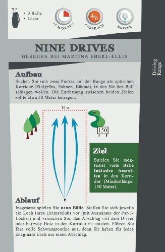 Mein Golf Training: 30 Übungen für ein effektives Training | Booklet mit Drills für das Golf-Bag - 8