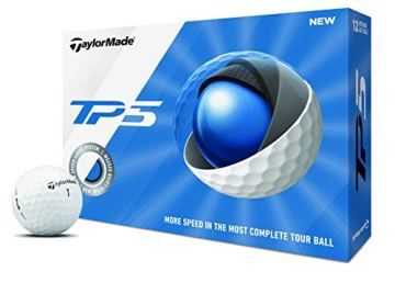 TaylorMade TP5 Golfbälle, Unisex, Golfball, M7152201, weiß, One Dozen - 1