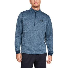 Under Armour Herren Oberteil FLEECE 1/2 ZIP, Blau, MD, 1320745-408 - 1