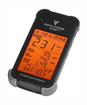 Voice Caddie SC200+ Launch-Monitor Swing-Analyse, Unisex, Schwarz, Einheitsgröße - 8