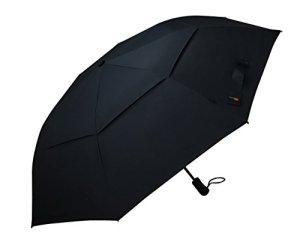 Umenice Taille XL Premium pliable Parapluie de golf automatique 8-rib Vented 210t Tissu Couleur Noir