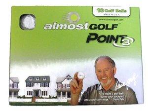 Almost Golf Point3 10 Balles de golf d'entrainement Jaunes