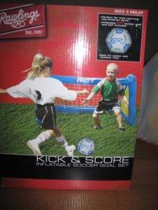 MLS Kick N Score gonflable Soccer Goal avec gonflable Soccer Ball