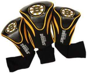 NHL Boston Bruins 3 Pack Contour Headcovers by Team Golf