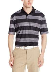 Callaway pour homme à manches courtes Space-dyed Look Rugby-striped Polo Tee XL caviar
