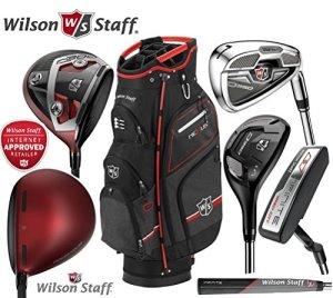 Wilson Staff D350Combo Ensemble de fer de golf pour homme en acier C3001Bois 10.5degré de Loft, bois 3Nexus Sac chariot