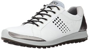 Ecco Men's Golf BIOM Hybrid 2, Chaussures de Golf Homme – Blanc – Weiß (WHITE/BLACK51227), 39