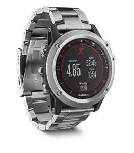 Garmin Fenix 3 HR – Montre GPS Multisports Outdoor – Argent avec Bracelet Titane