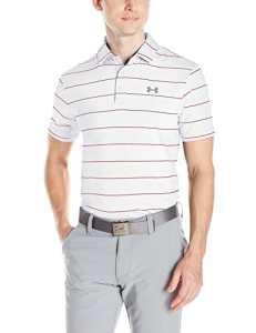 Under Armour homme de golf de polo moyen White/Steel (112)