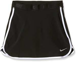 Nike Girl's Skort Jupe-Fille XS Negro/Plata