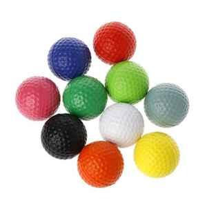 lpyfgtp 1pièce Balles de Golf Professionnel Practise Bien Sûr Jouer Jouet d'entraînement intérieur extérieur