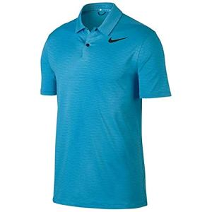 Nike TW Dry Fit Flou à Rayures Polo de Golf 2017, Homme, Blue Fury/Black, XX-Large
