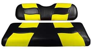 Riptide Noir/jaune Bicolore Housse de siège pour Yamaha disque