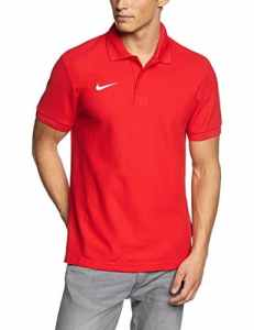 Nike Team Core Polo Poloshirt Homme, University Red/White, FR : M (Taille Fabricant : M)