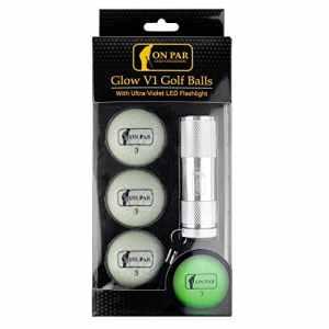 On Par Glow V1Balles de Golf avec Lampe Torche LED Ultra-Violet–Brillent dans Le Noir Balles de Golf