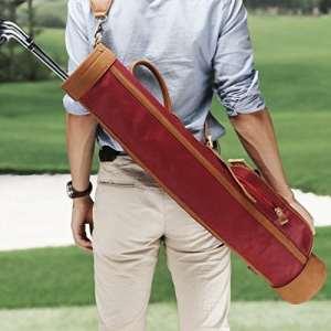 Tourbon Toile Pitch bien sûr de putt de golf Sac de transport Golf Glub étui de voyage, Red
