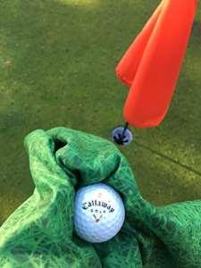 Serviette en microfibre en Unique Herbe Motif imprimé Idéal pour les golfeurs, Tennis et extérieur bols avec boucle de suspension, Absorbe 9fois son Poids en eau, séchage rapide, Petit et compact