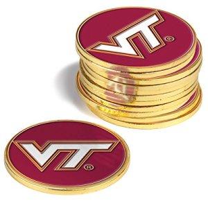 NCAA Virginia Tech Hokies–Lot de 12marqueurs de balle
