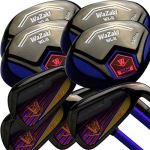 wazaki Japan WL-IIs 4-SW‿Combo fers Hybrides USGA R A Rules Golf Club Set + Couvre-tête (Regular Flex, Pro Graphite, droitier, édition limitée, Lot de 16)