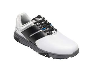 Callaway Chev Mission Waterproofs, Chaussures de Golf Homme, Blanc White/Black, 42.5 EU