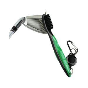 fang FANS Golf Brosse pour Club de Golf et Rainures Brosse à Double Coté Nylon & Acier avec Pics pour Nettoyer Surface & Rainures de Club (Vert)