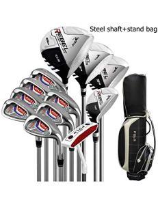 HDPP Club De Golf Alliage De Titane pour Bâtons De Golf pour Bâtons De Golf pour Hommes De Golf pour Hommes De Golfsteel Stand Full