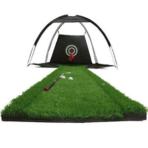 YDXYZ Entraînement de golf Filet de frappe for cour arrière Terrain d'entraînement portatif Cage de golf Accessoires de formation de filet de golf intérieur avec cible d'épaississement intérieure Tapi