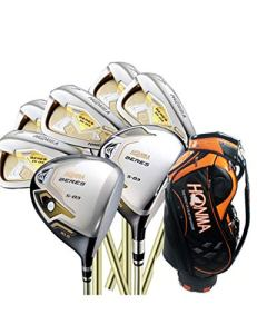 HDPP Club De Golf Clubs De Golf pour Hommes 3Star Compelete Golf Driver + 3 / 5Wood + Fers + Sac Graphite Golf Shaft