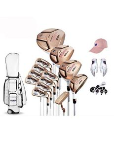 HDPP Club De Golf Collections. 13 Clubs De Golf De Femmes D'Alliage De Titane pour La Tige De Conducteur, Axe De Carbone D'Ensemble Complet De Golf De FemmesB