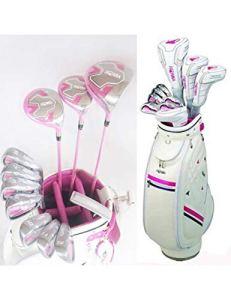 HDPP Club De Golf Femmes Clubs De Golf U100 Golf Ensemble Complet De Clubs Pilote + Bois De Parcours + Fers + Fer + Putter + Sac Graphite Golf Shaft