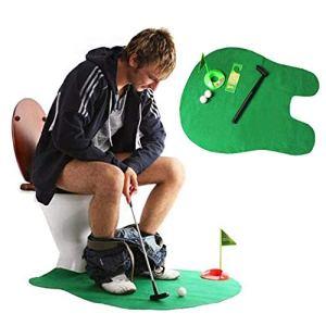 Oilet Golf, Potty Golf Drinker WC Toy Potty Push Push Pump Push Swing Golf