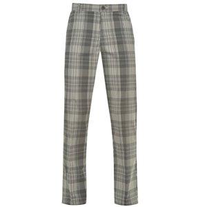 Slazenger Pantalon de golf à carreaux pour homme Pantalon Doublure caoutchoutée au Tour de taille, charbon